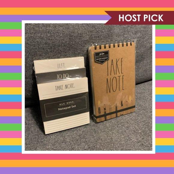 Rae Dunn Notebook & Notepad Bundle